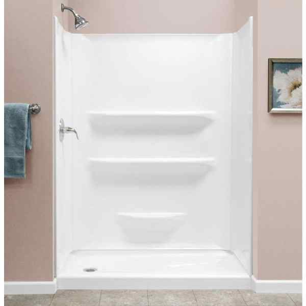 Style Selections 54x27 White 2-piece Alcove Shower Kit
