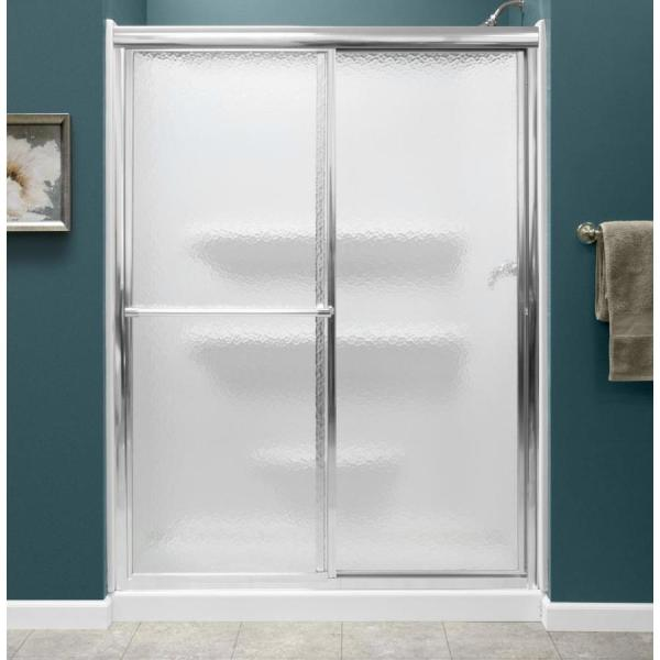Style Selections 54x27 White 3-piece Alcove Shower Kit