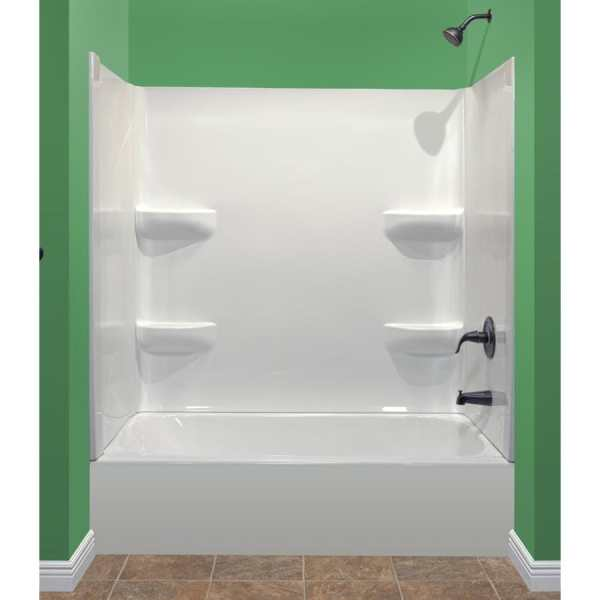 Style Selections Kit 54-in X 27-in Bathtub Center And Wall