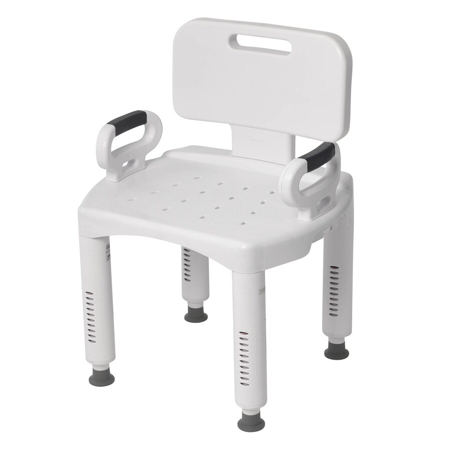 handicap shower chairs vintage industrial desk chair drive medical white plastic freestanding at lowes com