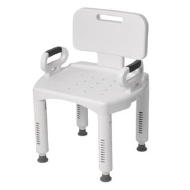 handicap shower chair european touch pedicure chairs for sale seats at lowes com drive medical white plastic freestanding