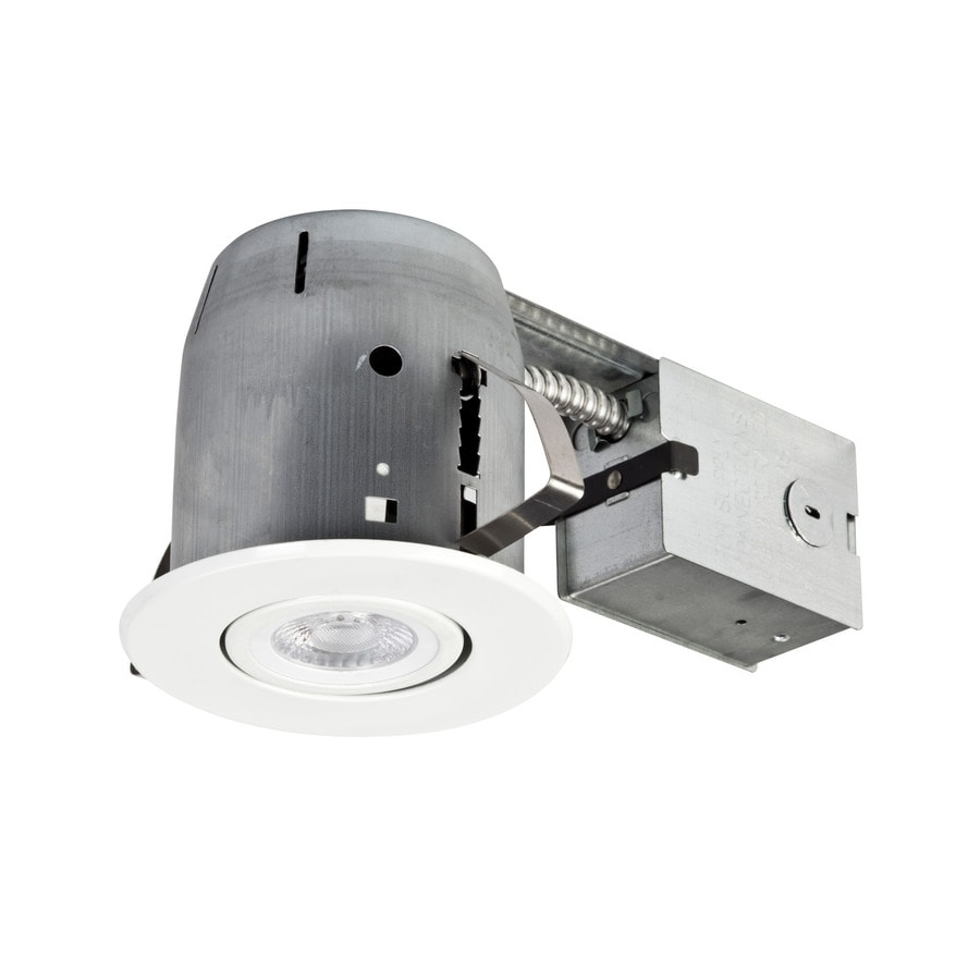 globe electric recessed 5 in remodel and new construction white ic gimbal recessed light kit