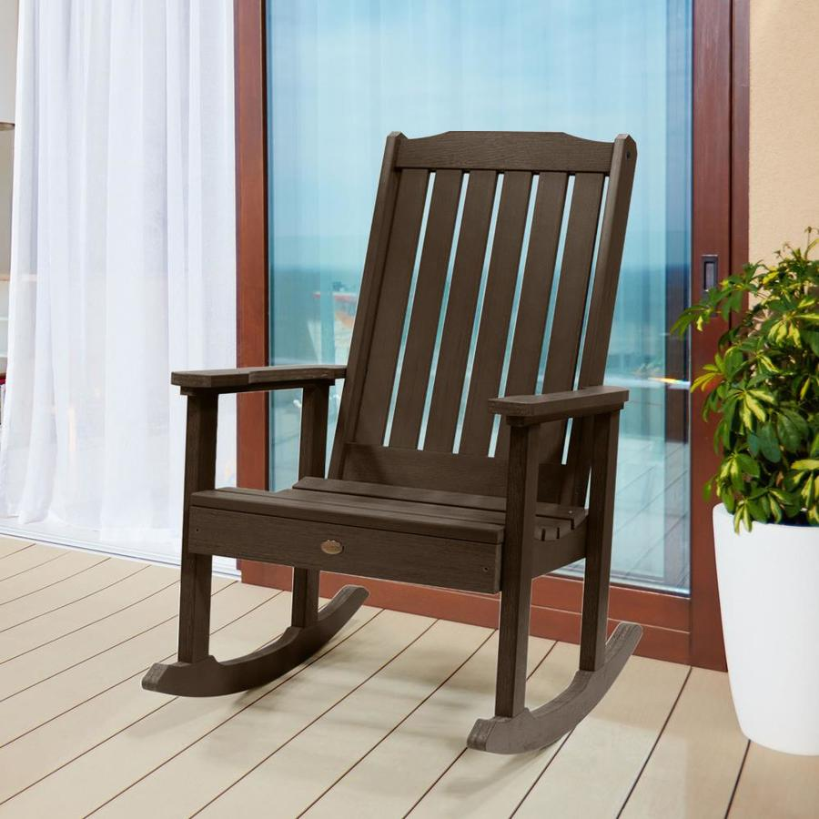 highwood the lehigh collection weathered acorn plastic frame rocking chair s with slat seat seat