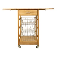 Drop Leaf Kitchen Cart Faucet Pull Out Sprayer Catskill Craftsmen Dual Three Basket At Lowes Com