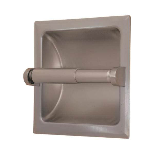 Gatco Perfect Solutions Satin Nickel Recessed Toilet Paper