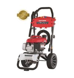 craftsman 3200 psi 2 4 gpm cold water gas pressure washer with honda engine carb [ 900 x 900 Pixel ]