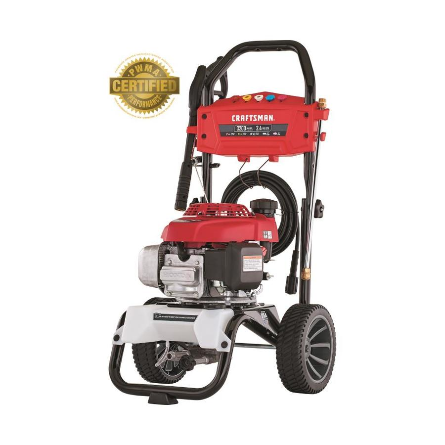 hight resolution of craftsman 3200 psi 2 4 gpm cold water gas pressure washer with honda engine carb