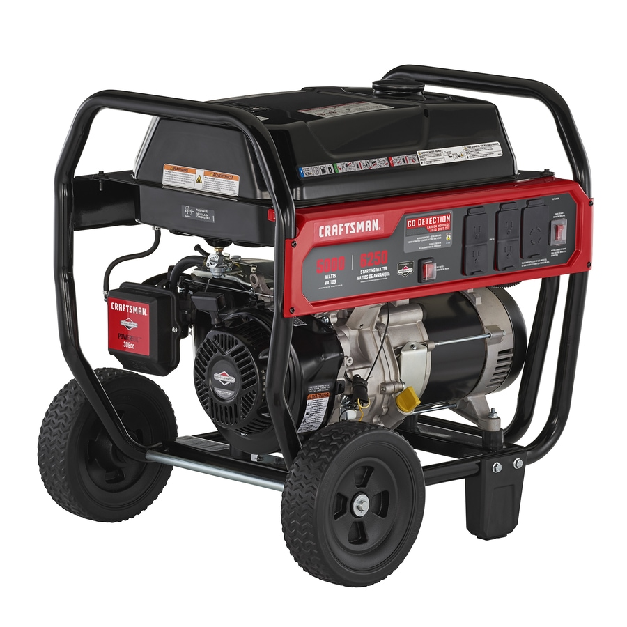 medium resolution of craftsman 5000 running watt gasoline portable generator with briggs and stratton engine