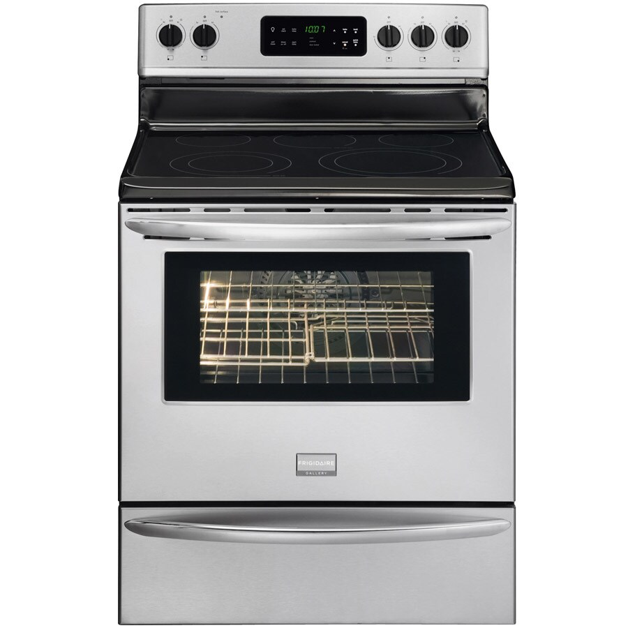 hight resolution of frigidaire gallery smooth surface freestanding 5 element 5 7 cu ft self cleaning convection