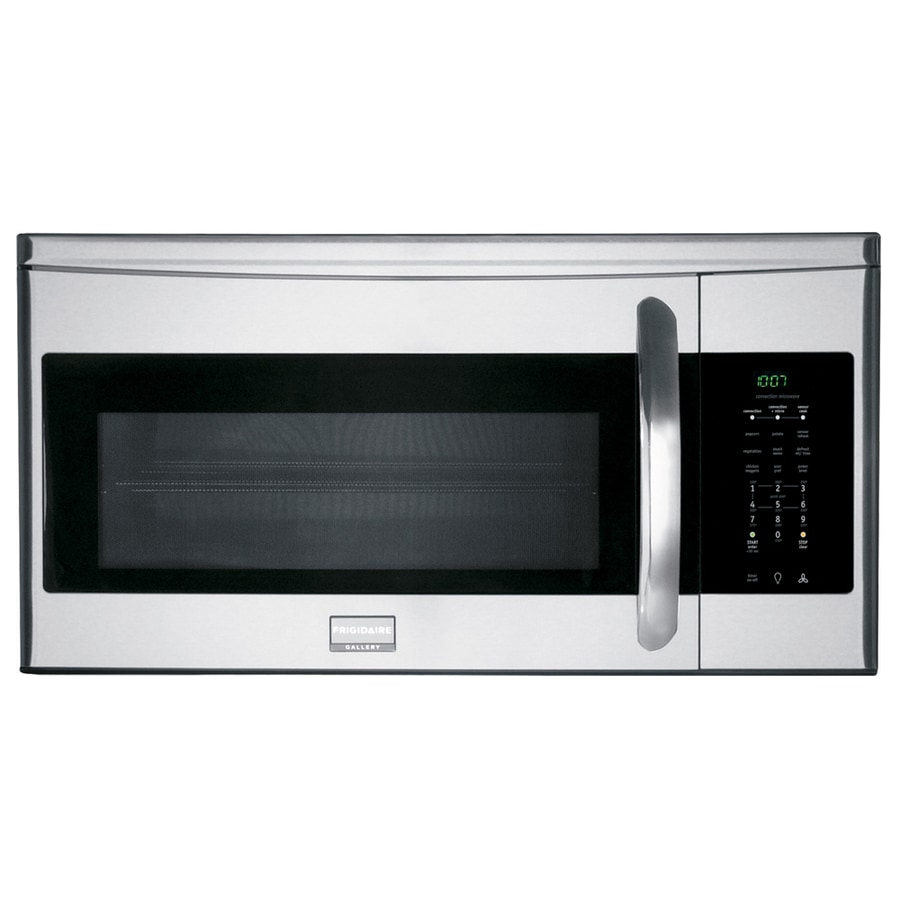 frigidaire gallery 1 5 cu ft over the range convection oven microwave with sensor cooking controls stainless steel common 30 in actual 29 87 in