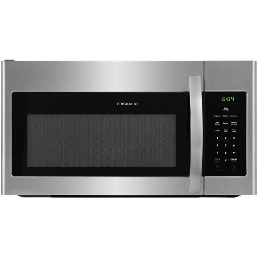 hight resolution of frigidaire 1 6 cu ft over the range microwave easycare stainless steel common 30 in actual 29 875 in