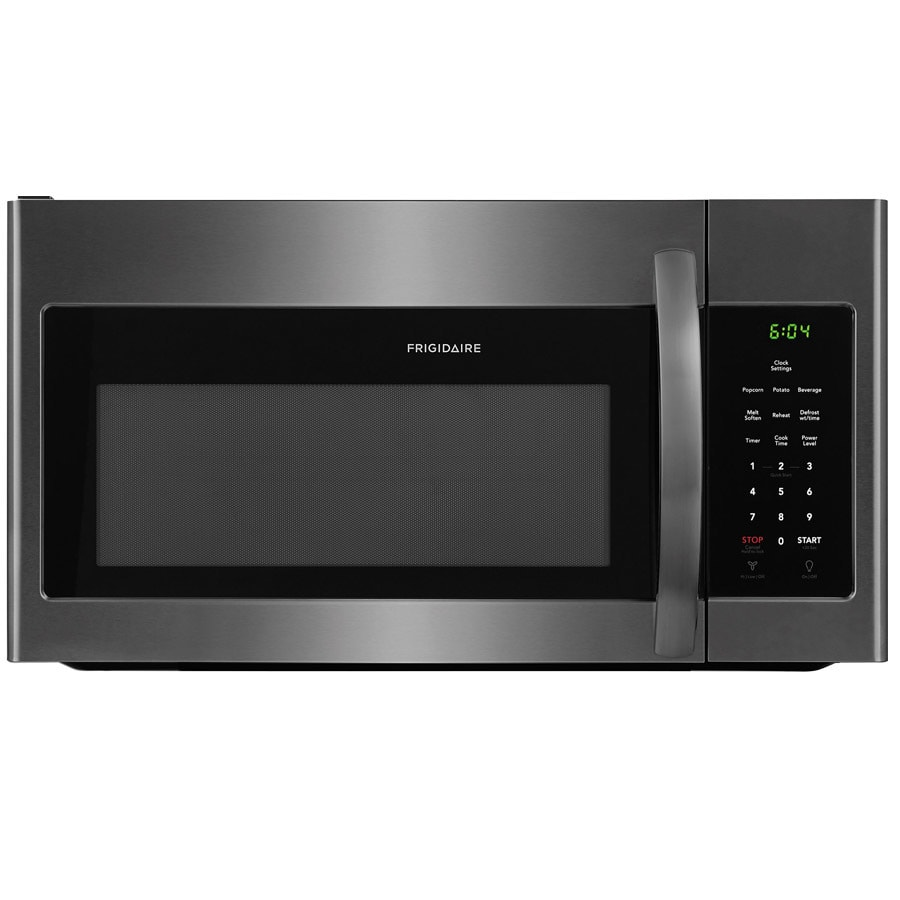 medium resolution of frigidaire 1 6 cu ft over the range microwave black stainless steel common 30 in actual 29 875 in