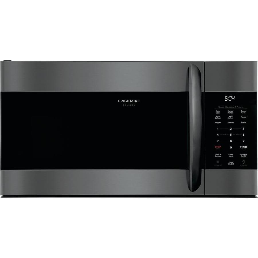 https www lowes com pd frigidaire gallery 1 7 cu ft over the range microwave with sensor cooking smudge proof black stainless steel 1001041988