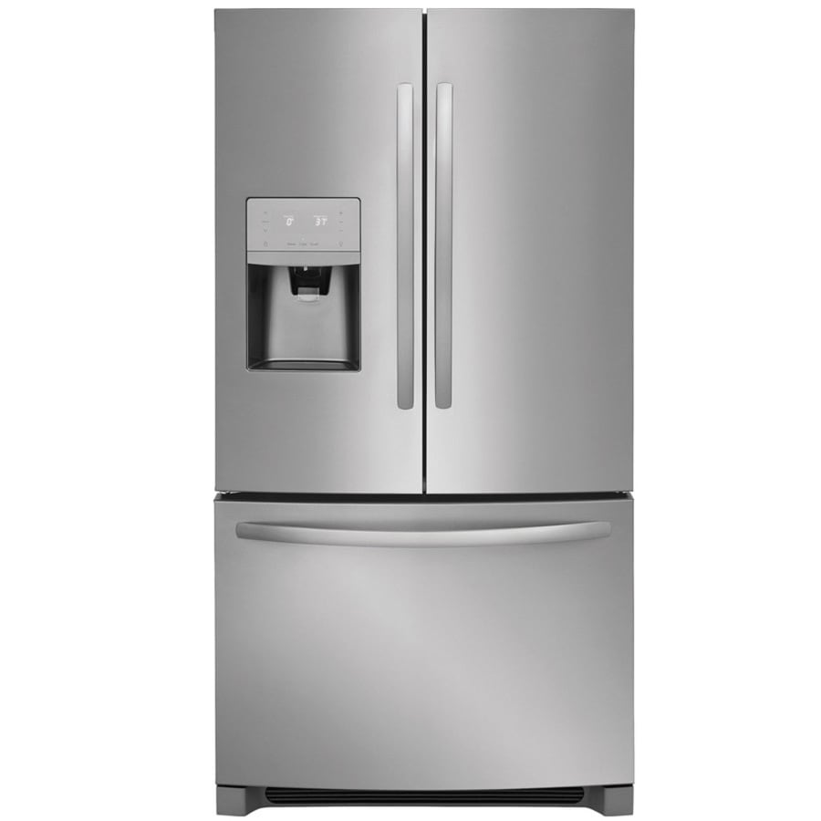 hight resolution of frigidaire 26 8 cu ft french door refrigerator with ice maker easycare stainless steel energy star