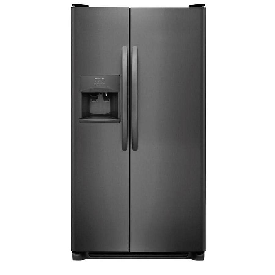 hight resolution of frigidaire 22 cu ft side by side refrigerator with ice maker black stainless steel