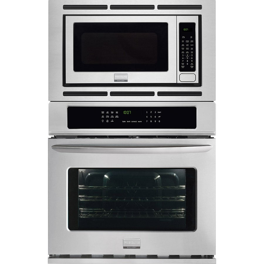 medium resolution of frigidaire gallery self cleaning with steam true convection microwave wall oven combo stainless steel common 27 inch actual 27 in