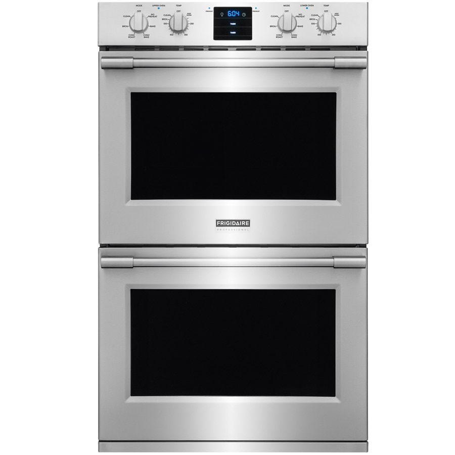 medium resolution of frigidaire professional self cleaning convection double electric wall oven stainless steel common 30 in actual 30 in