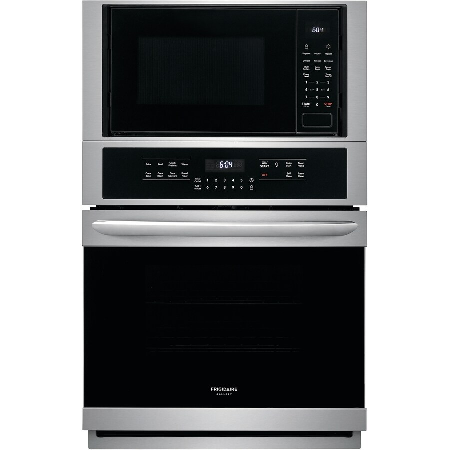 frigidaire gallery 27 in self cleaning convection european element microwave wall oven combo stainless steel