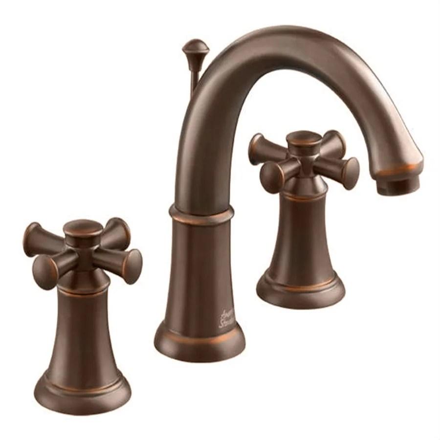 American Standard Portsmouth OilRubbed Bronze 2Handle Widespread WaterSense Bathroom Sink
