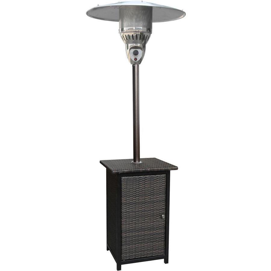 hanover 48000 btu brown hammered bronze steel floorstanding liquid propane patio heater
