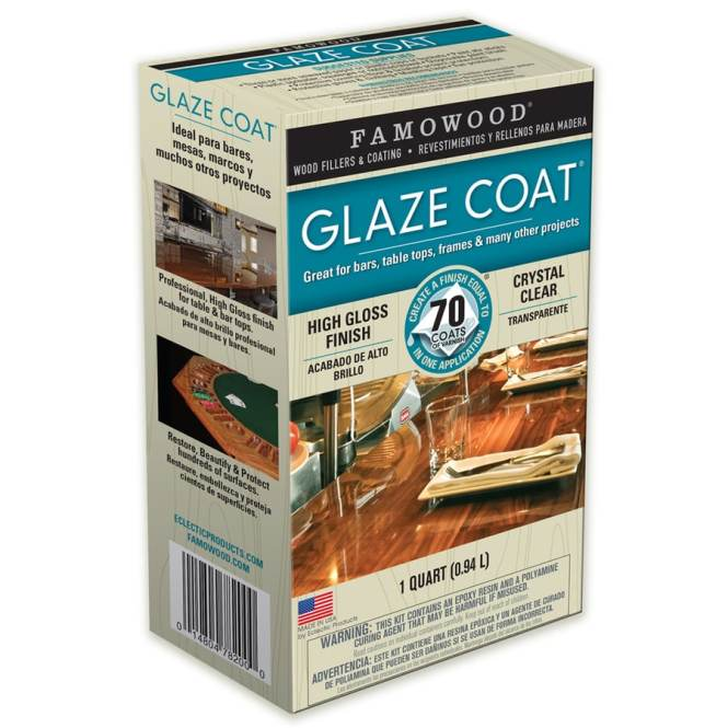 Famowood Glaze Coat Gloss Oil Based Lacquer Actual Net Contents 32 Fl