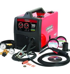 lincoln electric 230 volt 180 amp mig flux cored wire feed welder [ 900 x 900 Pixel ]