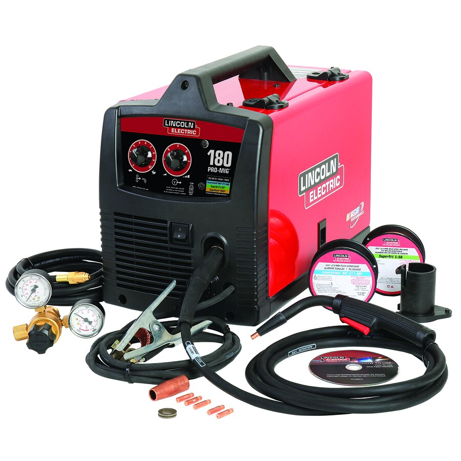 hight resolution of lincoln electric 230 volt 180 amp mig flux cored wire feed welder