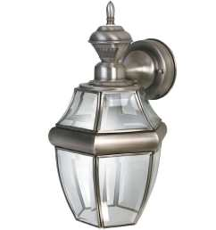 secure home hanging carriage 14 5 in h antique silver motion activated outdoor wall light [ 900 x 900 Pixel ]