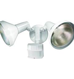 secure home 180 degree white halogen motion activated flood light with timer [ 900 x 900 Pixel ]