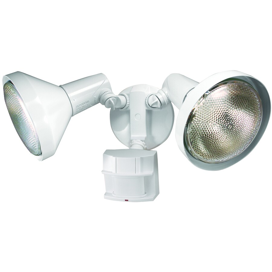hight resolution of secure home 180 degree white halogen motion activated flood light with timer