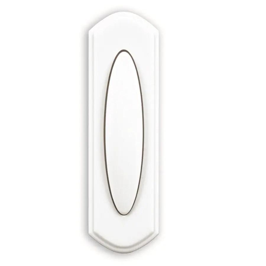 Shop Heath Zenith Wireless White Doorbell Button