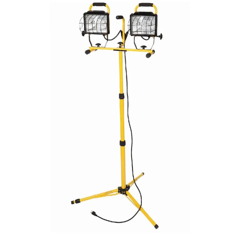Utilitech 1000-Watt Halogen Stand Work Light at Lowes.com