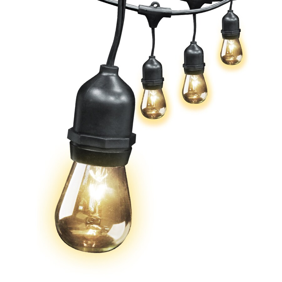 feit electric 20 ft 10 light clear glass shade plug in white incandescent string lights