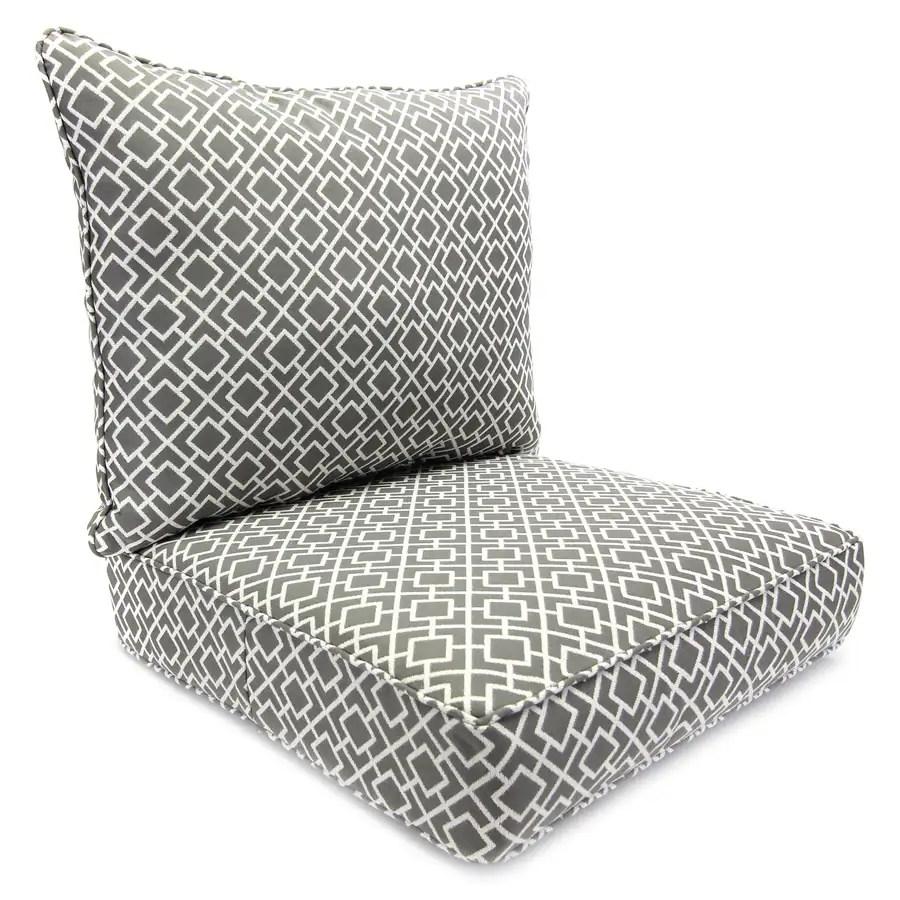 Jordan Manufacturing 2Piece Poet Gray Poet Gray Deep Seat Patio Chair Cushion at Lowescom