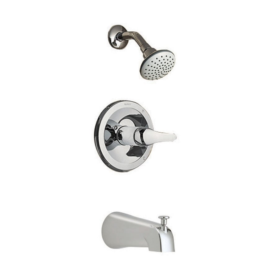 Shop AquaSource Chrome 1 Handle Bathtub And Shower Faucet