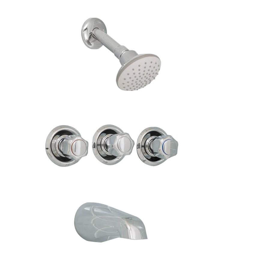 aquasource chrome 3 handle tub and