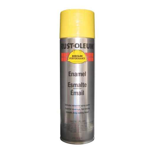 Rust Oleum High Performance Safety Yellow Enamel Spray Paint Actual Net Contents 15