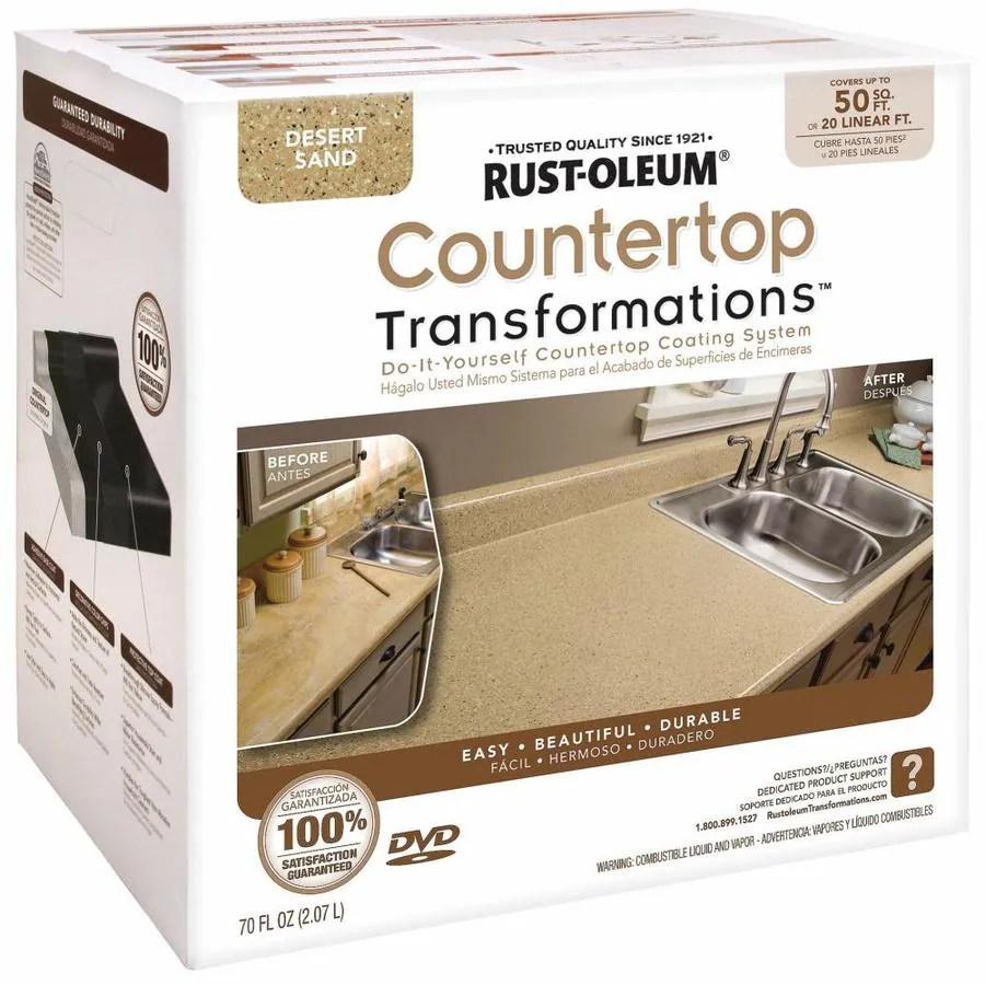 rust oleum countertop transformations desert sand semi gloss countertop resurfacing kit