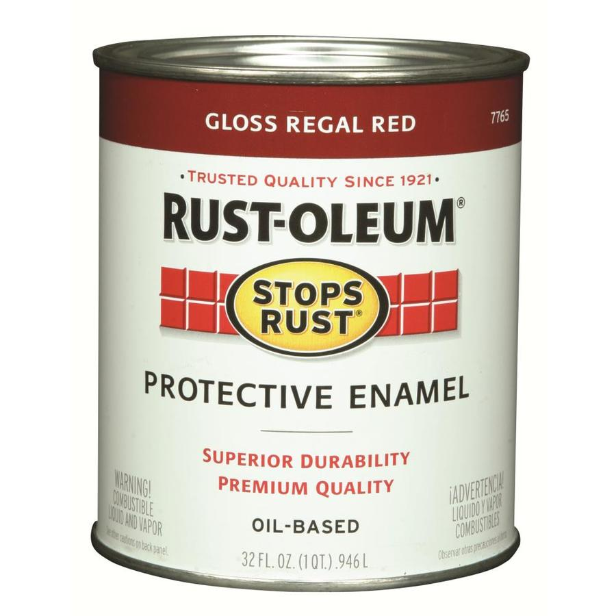 Shop Rust Oleum Stops Rust Regal Red Gloss Oil Based