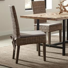wood kitchen chairs cabinets chicago dining at lowes com scott living set of 2 traditional khaki kubu