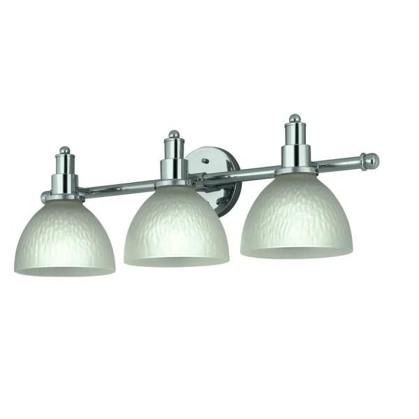 Portfolio 3-light Chrome Bathroom Vanity Light
