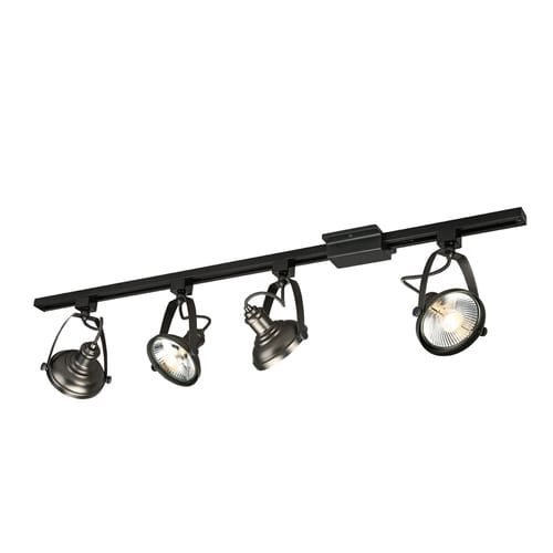 Project Source 4-Light 42-in Antique Bronze Dimmable