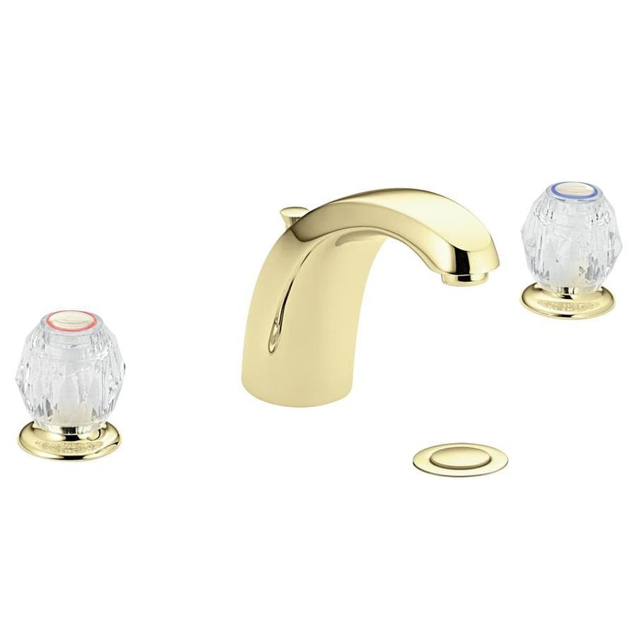 Moen Kingsley Bathroom Faucet Moen Chateau Polished Brass 2 Handle Widespread Watersense