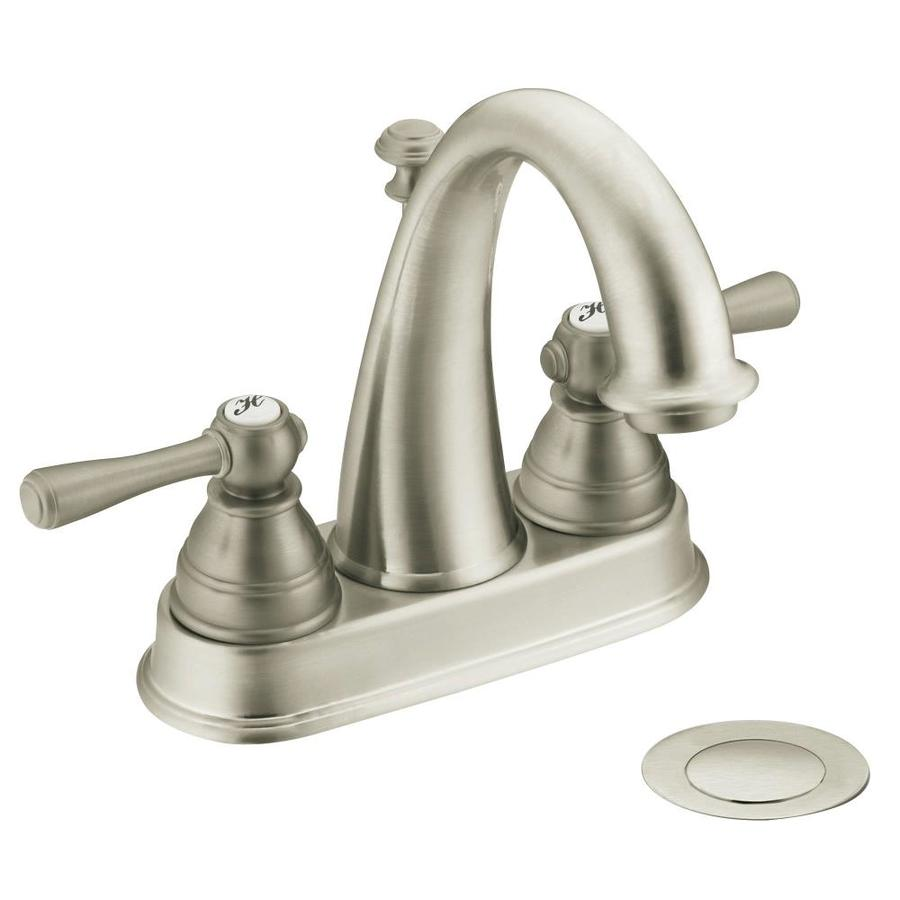 Shop Moen Kingsley Brushed Nickel 2Handle 4in Centerset