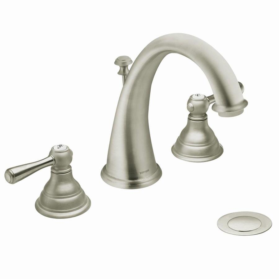Shop Moen Kingsley Brushed Nickel 2Handle Widespread