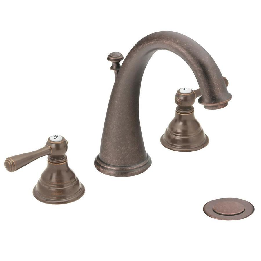 Shop Moen Kingsley OilRubbed Bronze 2Handle Widespread
