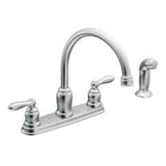 Kitchen Faucet Moen Storage Solutions For Small Kitchens Faucets At Lowesforpros Com Caldwell Chrome 2 Handle Deck Mount High Arc