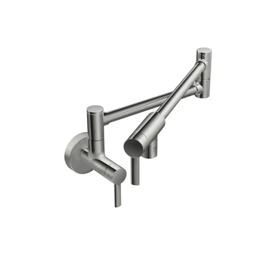 hight resolution of  moen pot filler chrome 2 handle wall mount pot filler kitchen faucet tub and shower