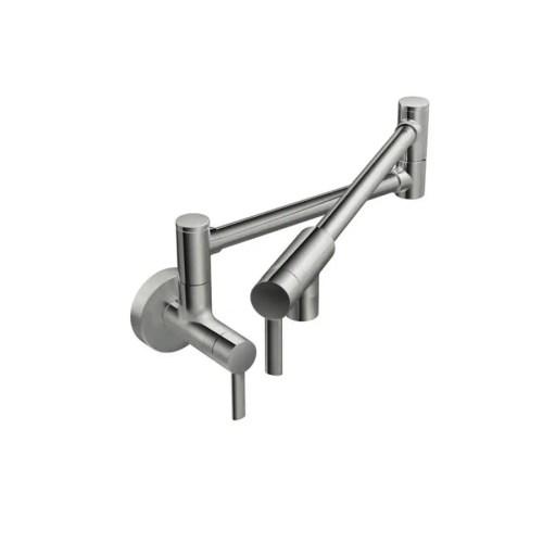 small resolution of  moen pot filler chrome 2 handle wall mount pot filler kitchen faucet tub and shower