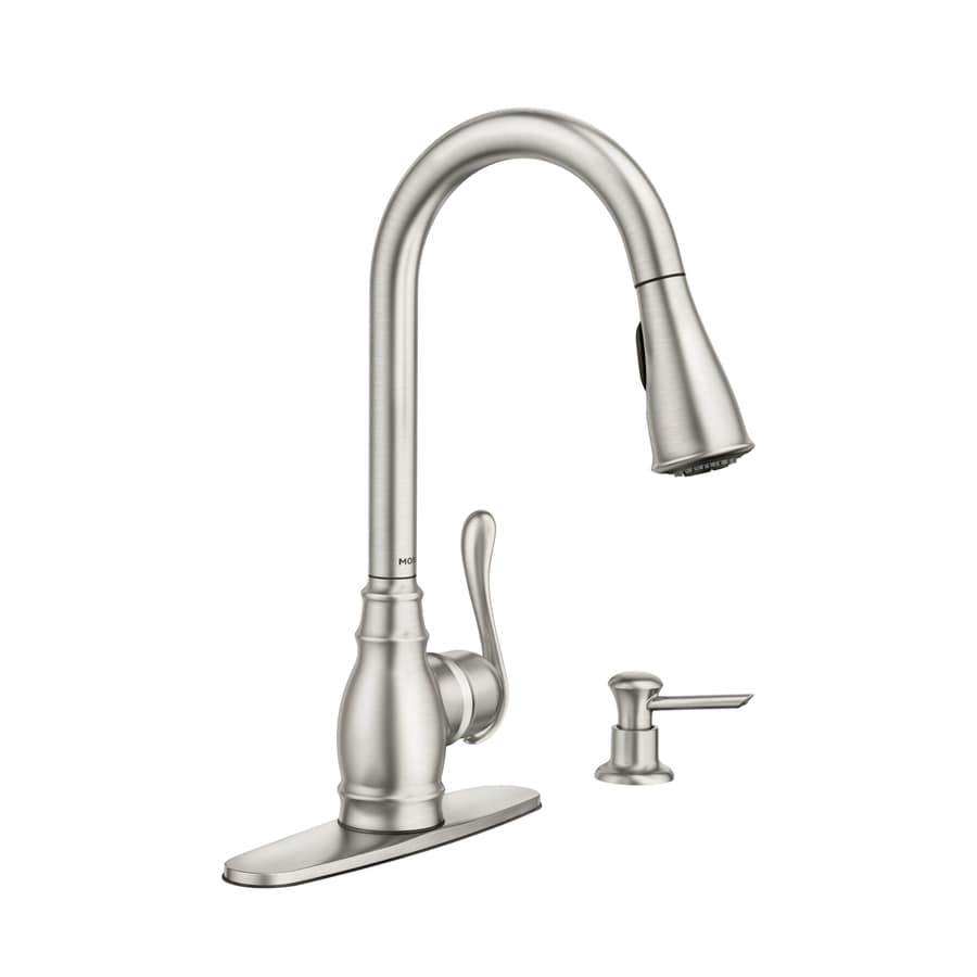 kitchen faucet rugs walmart moen anabelle spot resist stainless 1 handle pull down